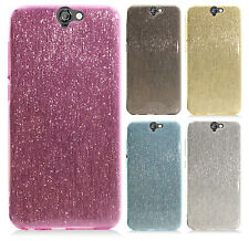 For HTC One A9 Glitter TPU CANDY Gel Flexi Skin Case Phone Cover Accessory