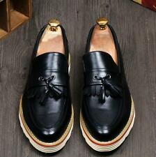 Mens Brogue leather Oxfords tassel slip on loafer formal Dress casual Shoes new