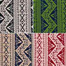 Tribal Lines Shapes Patterns 100% Viscose Print Fabric 140cm Wide