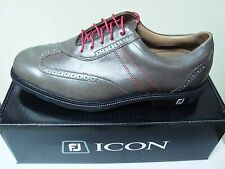 New with Box Footjoy Icon Golf Shoes Grey Medium Width #52268, no blemishes