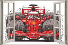 Huge 3D Koolart Window view Formula 1 Ferrari Kimi Wall Sticker Poster 2088