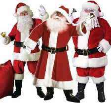 Mens Professional Quality Santa Claus Father Christmas Suit Costume Outfit M-XXL