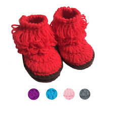 Infant Boys Crochet Shoes Handmade Knit Baby Girls High-top Tall Boots Shoes Hot