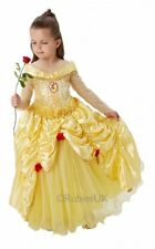 Girls Deluxe Disney Princess Belle Beauty and the Beast Dress Costume Outfit 3-8