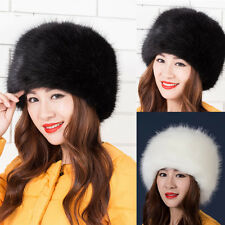 Fashion Lady Faux Fox Fur Hat Women Winter Warm Soft Comfortable Ski Hat Cap New