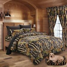 Twin Queen King Camo 13pc Comforter Bed Set Camouflage Hunter Curtains & Sheets