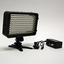 Pro 4K HD LED video light with AC power adapter for Canon EOS DSLR AVCHD camera