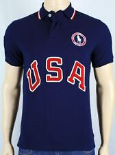 Polo Ralph Lauren Navy Blue Custom Fit USA Olympic Polo Shirt NWT $145