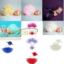Cute Baby Photography Photo Prop Headband Costume Girl Bowknot Tutu Skirt Outfit