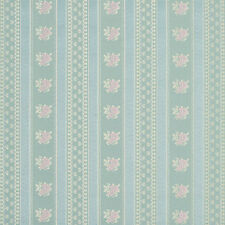 D124 Gold Pink And Blue Floral Striped Brocade Upholstery Fabric