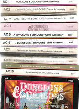 TSR DUNGEONS & DRAGONS AC SERIES AC 1~11 VGC MULITLIST AC 1 2 3 4 5 6 7 8 9 10