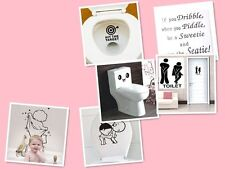 Bathroom Toilet Decoration Seat Art Wall Stickers Quote Decal Home Decor Funny