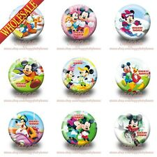 9PCS Mickey Minnie Buttons pins badges,30MM,Round Brooch Badge,Bags Accessories