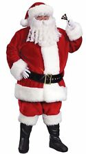 Adults Deluxe Regency Santa Claus Suit Festive Christmas Fancy Dress Costume