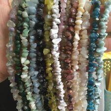 "4-5&6-8mm Natural Freeform Gravel Chip Gemstone Beads Strand 34"" Pick Material"