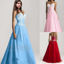 2016 Sweetheart Beaded Formal Long Prom Dresses Evening Gowns Size 6 8 10 12 14