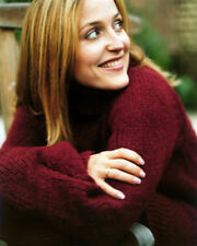 GILLIAN ANDERSON IN PROFILE SMILING RED SWEATER PHOTO OR POSTER