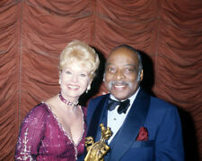 DEBBIE REYNOLDS CANDID SMILING PORTRAIT WITH COUNT BASIE PHOTO OR POSTER