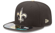 New Era New Orleans Saints NFL On Field Cap 5950 Authentic Fitted Basecap 7 - 8