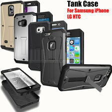 Heavy Duty TANK Armor Hard Case Kickstand Cover with Built in Screen Protector