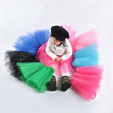 Lovely Girls Kids Tutu Skirt Party Ballet Dance Wear Dress Pettiskirt Costume FT