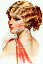 ~Vintage Art Deco 1920's Shabby Flapper Woman Waterslide Decals ~ WOM938