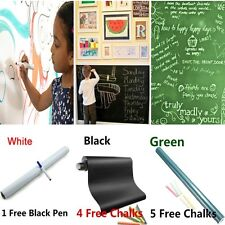 Vinyl Chalkboard Wall Sticker Removable Blackboard Decals 200*60cm + Chalks Pen