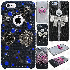 For Apple iPhone 6 4.7 Crystal Diamond 3D BLING Hard Protector Case Phone Cover