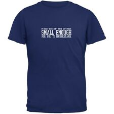 Small Enough Words Metro Blue Adult T-Shirt