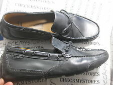 NIB Clarks Men's Black Ashmont Edge Leather Slip On Loafer Moc Shoes