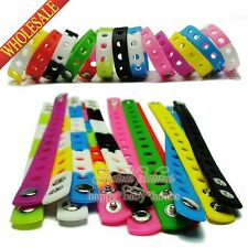 1pcs 18cm or 21cm silicone bracelets/wristbands for JIBZ,charms bracelets,gifts