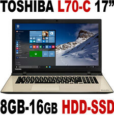 "Win 10 Toshiba Satellite L70-C Pro 17.3"" Core 2.70Ghz 8GB-16GB HDD -SSD Laptop"
