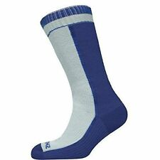 Sealskinz Med Weight Mid Length 100% Waterproof Breathable Socks White Blue