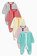 Bnwt Next Girls Cute Spotty and stripes Sleepsuits 0-3 months** Pack of 4**