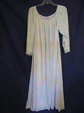 AMANDA RICH Kassatly FULL SWEEP Pale Pastel NIGHTGOWN NEGLIGEE Tricot Gown VTG M