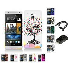 Design Hard Snap-On Rubberized Case Skin Cover Charger for HTC One Mini M4