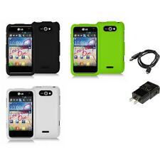 Color Hard Snap-On Rubberized Skin Case for LG Motion 4G MS770 Charger