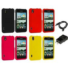 Color Hard Snap-On Skin Case for LG Optimus Black P970 Marquee Phone Charger