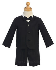 New Baby Toddler Black Boys Suit Set Shorts Linen Wedding Easter Birthday G828