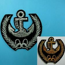 Anchor Feather Leaf Army Police Iron on Sew Retroembroidered Embroidery Applique