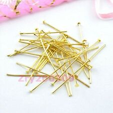 Gold Plated Head Pins Connectors 20mm,30mm,40mm,DIY Findings R0014