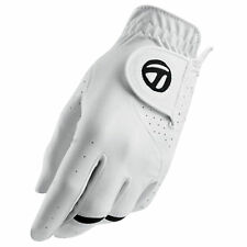 2016 TAYLORMADE MENS ALL WEATHER LEFT HAND GOLF GLOVE - NEW LEATHER WHITE SIZES
