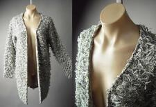 Shaggy Furry Cozy Marled Sweater Jacket Statement Coat 167 mv Sweatercoat S M L