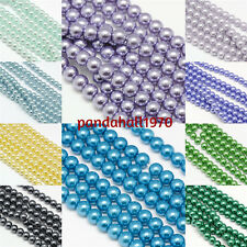 """1strand 8mm Environmental Dyed Glass Pearl Round Beads about 52pcs/strand 15"""""""