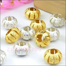 15Pcs 4.5mm-Hole Copper Spacer Beads 7x11mm R0140
