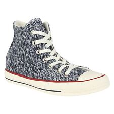 Converse All Star Hi Winter Knit Trainers Womens Blue Casual Shoes Sneakers