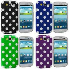 Polka Dot Hard Ultra Thin Rubberized Case Skin Cover for Samsung Galaxy S3 S III