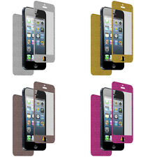 Glitter Sparkle LCD Guard Screen Protector Front Back Cover for iPhone 5 5G 5th