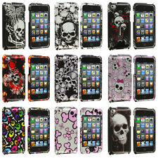 Color Skulls Design Hard Skin Case Cover Accessory for iPod Touch 4th Gen 4G 4