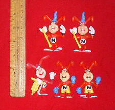 5 Domino's Pizza Noid Advertising PVC Figures miniatures Avoid the Noid! vintage